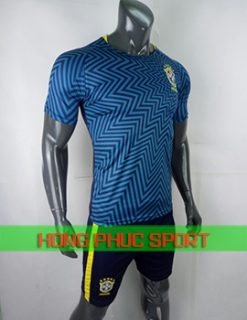 Áo training tuyển Brazil World Cup 2018 mãu xanh