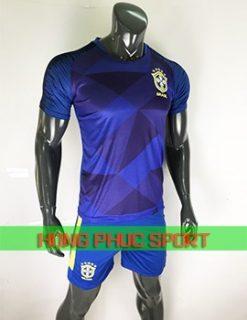 Áo tuyển Brazil sân khách World Cup 2018 màu xanh