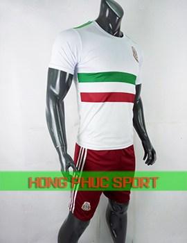Áo tuyển Mexico sân khách World Cup 2018 màu trắng