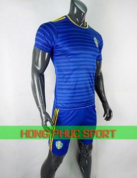 Áo tuyển Thụy Điển sân khách World Cup 2018 màu xanh