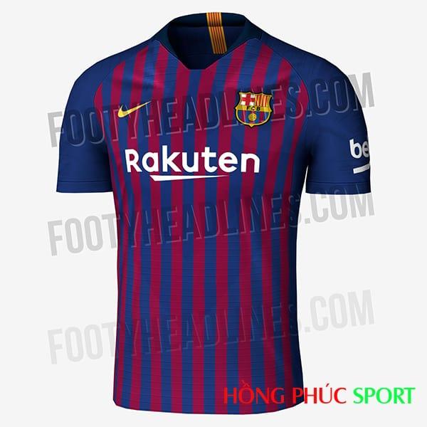 Hình ảnh áo đấu Barca 2018 2019 sân nhà được rò rỉ