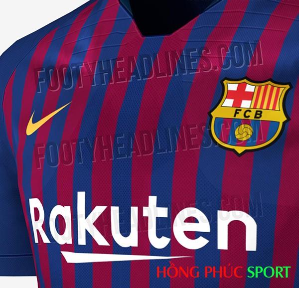 Ngực áo đấu mới của Barca 2018 2019 được rò rỉ