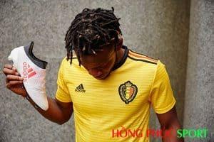 Mẫu áo đấu sân khách đội tuyển Bỉ World Cup 2018