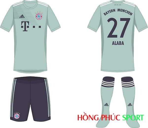 Thiết kế áo đấu Bayern Munich mùa giải 2018 2019 sân khách
