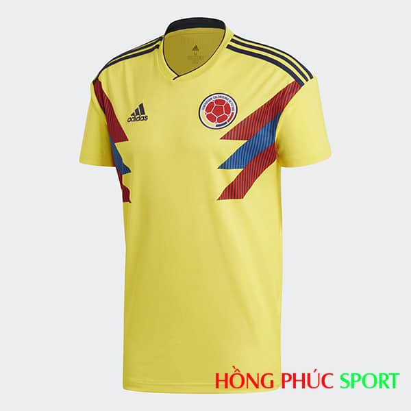 Áo đấu sân nhà đội tuyển Colombia (phía ngực áo)