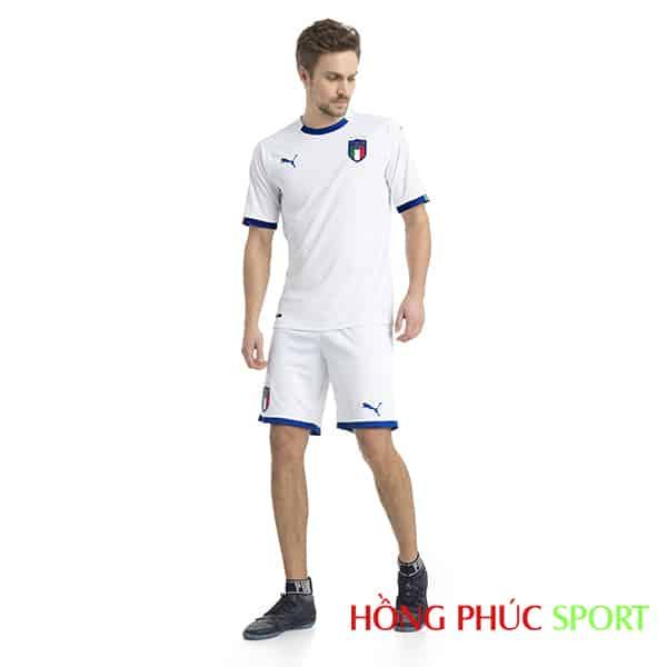 Mẫu áo đấu sân khách đội tuyển Italia 2018 mầu trắng