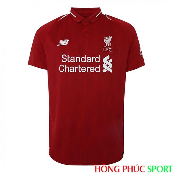 Phía trước áo đấu Liverpool sân nhà mùa giải 2018 2019