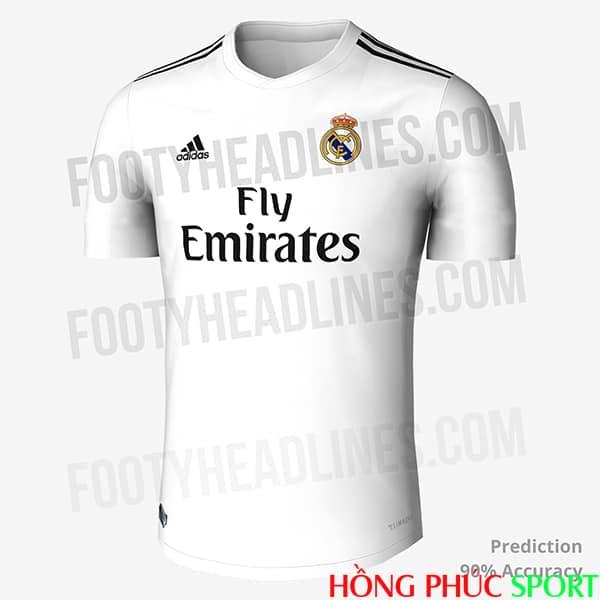 Thiết kế áo đấu Real Madrid sân nhà 2018 2019