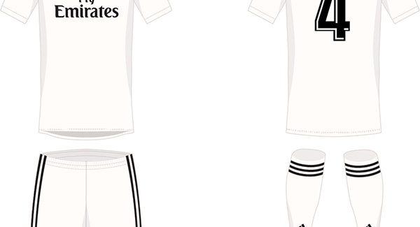 Thiết kế dự kiến của áo đấu Real Madrid mùa giải 2018 2019