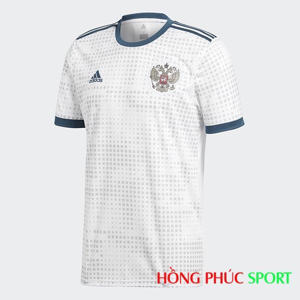 Áo đấu sân khách đội tuyển Nga (phía ngực áo)