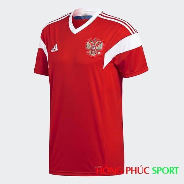 Áo đấu sân nhà đội tuyển Nga World Cup 2018 (phía ngực áo)