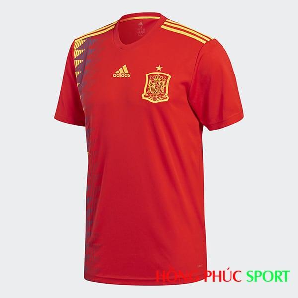 Áo đấu sân nhà Tây Ban Nha (phía ngực áo)