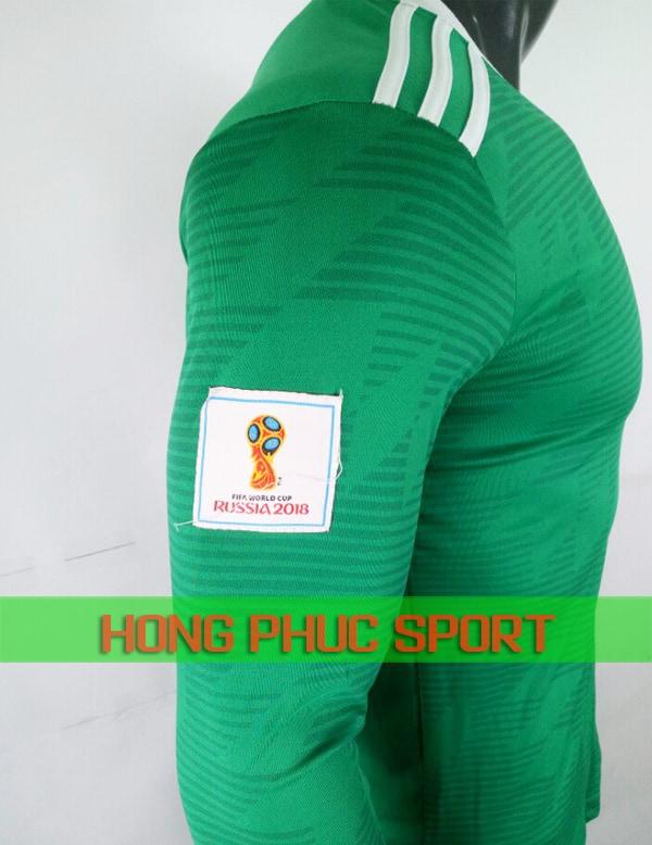 Tay áo dài tay training tuyển Đức World Cup 2018 xanh lá cây