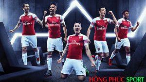 Poster ra mắt áo đấu Arsenal sân nhà mùa giải 2018 2019