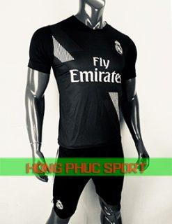 Bộ áo đấu Real Madrid sân khách 2018 2019 màu đen
