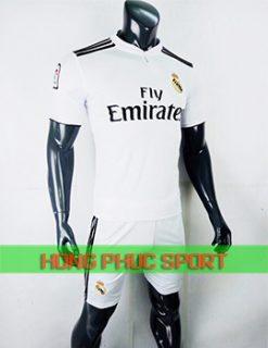 Áo đấu Real Madrid sân nhà 2018 2019 màu trắng