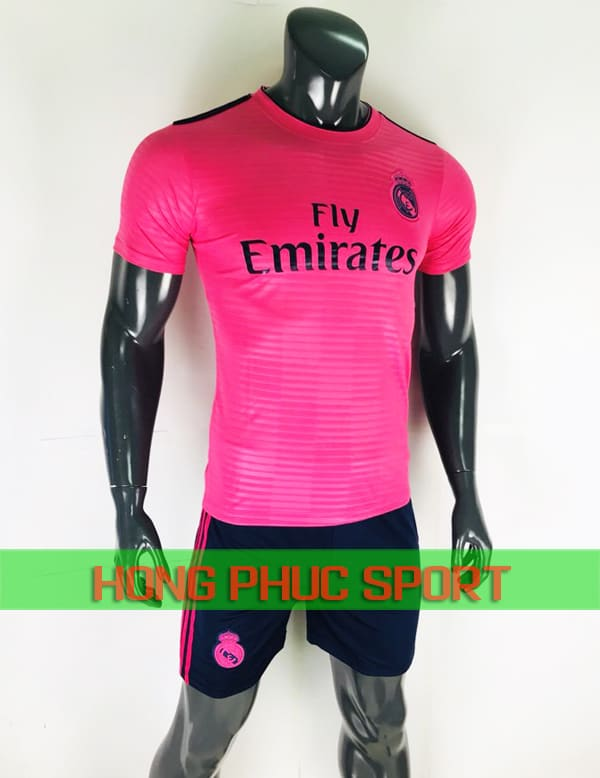 Bộ áo đấu Real Madrid mẫu thứ ba 2018 2019 màu hồng