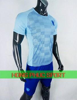 Áo tuyển Hà Lan sân khách 2018 màu xanh