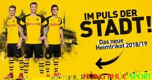 Công bố áo đấu Borussia Dortmund sân nhà 2018 2019