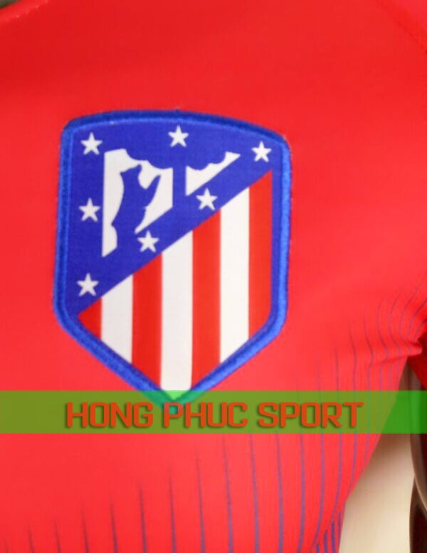 Logo áo đấu Atletico Madrid training 2018 2019 màu đỏ xanh