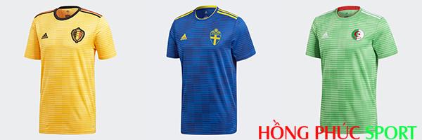 Bỉ, Thụy Điển và Algeria dùng chung thiết kế Adidas Condivo 18
