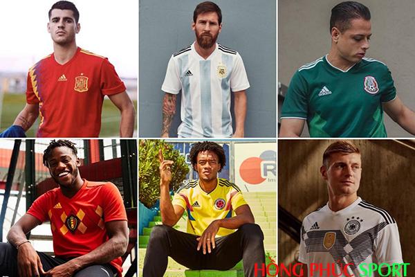 Áo đấu World Cup 2018 của thương hiệu thể thao Adidas