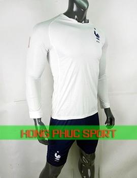 Áo tuyển Pháp sân khách tay dài World Cup 2018 màu trắng