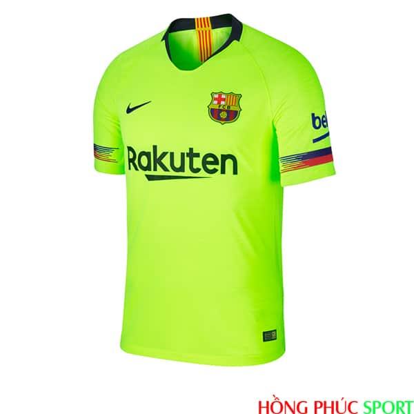 Mặt trước áo đấu Barca sân khách mùa giải 2018 2019