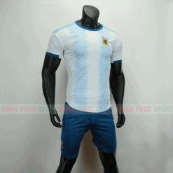 Áo bóng đá Argentina sân nhà Copa America 2019 trắng xanh