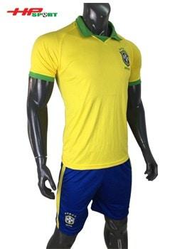 ÁO BÓNG ĐÁ BRAZIL SÂN NHÀ COPA AMERICA 2019 MÀU VÀNG