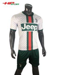 Áo bóng đá Juventus 2019 2020 màu trắng kẻ sọc