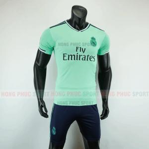Áo bóng đá Real Madrid mẫu thứ ba 2019 2020 xanh ngọc