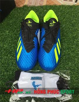 Giầy đá bóng chính hãng MIRA màu xanh dương cao cấp