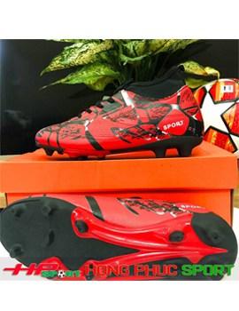 Giày đá bóng cổ cao sân cỏ tự nhiên 2019 TN289 màu đỏ