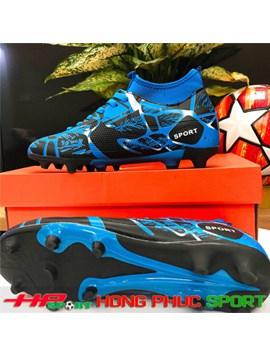 Giày đá bóng cổ cao sân cỏ tự nhiên TN 289 màu xanh ngọc