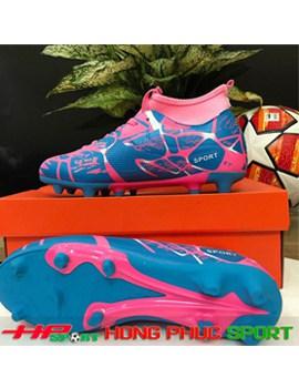 Giày đá bóng cổ cao sân cỏ tự nhiên TN289 màu hồng