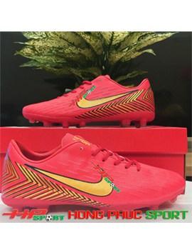 Giày đá bóng sân cỏ tự nhiên mã TN 1818 màu đỏ