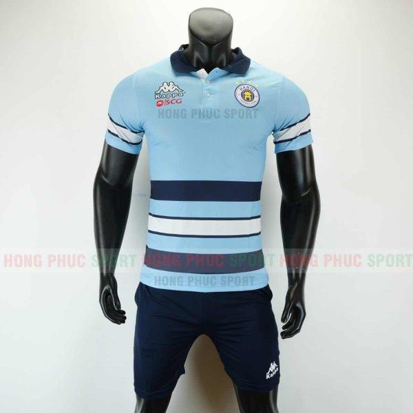 Áo bóng đá di chuyển CLB Hà Nội 2019 2020 màu xanh nhạt