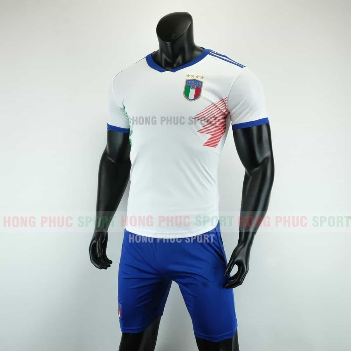Áo đá bóng đội tuyển ITALIA màu trắng mùa giải 2019