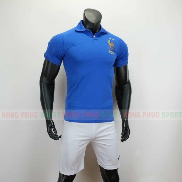 Áo bóng đá đội tuyển quốc gia Pháp 2019 màu xanh kỷ niệm 100 năm
