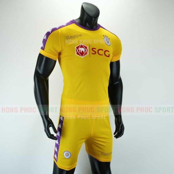 Áo bóng đá Hà Nội sân khách 2019 2020 màu vàng