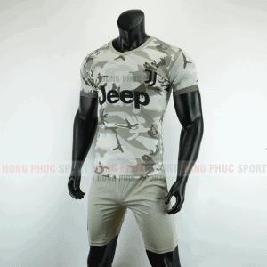 Áo bóng đá Juventus 2019 2020 màu xám rằn ri