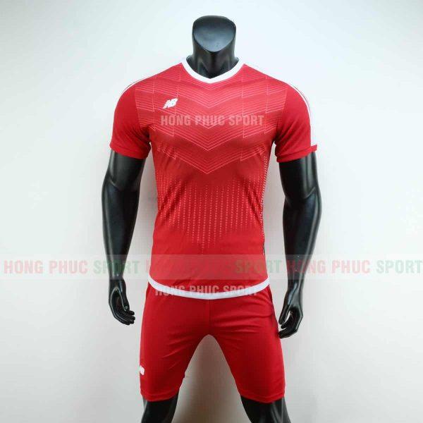 Áo đá bóng NB vải dệt màu đỏ không logo 2019 2020