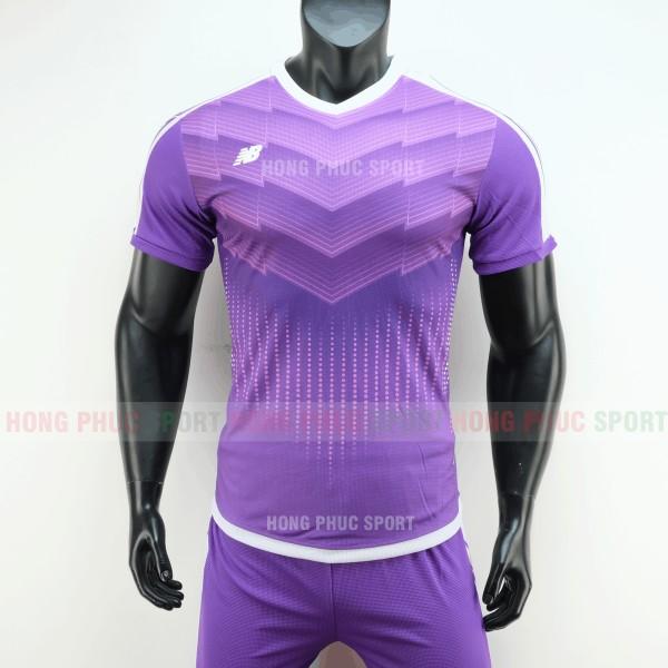 Áo đá bóng NB vải dệt màu tím không logo 2019 2020