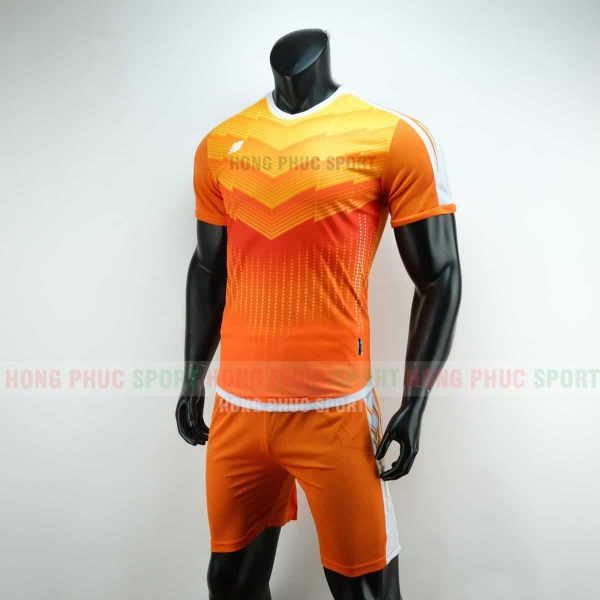 Áo đá bóng NB vải dệt màu vàng cam không logo 2019 2020