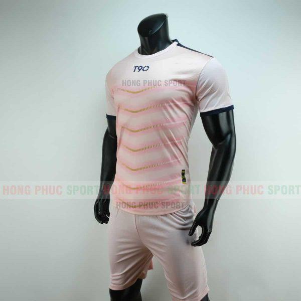 Áo đá bóng T90 màu hồng không logo 2019 2020