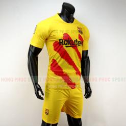 Áo bóng đá Barcelona 2019 2020 màu vàng sọc đỏ