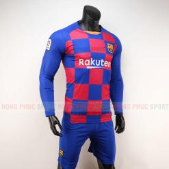 Áo bóng đá Barcelona dài tay sân nhà 2019 2020 xanh đỏ