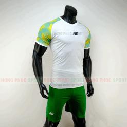 Áo đá bóng NB vải dệt màu trắng không logo 2019 2020