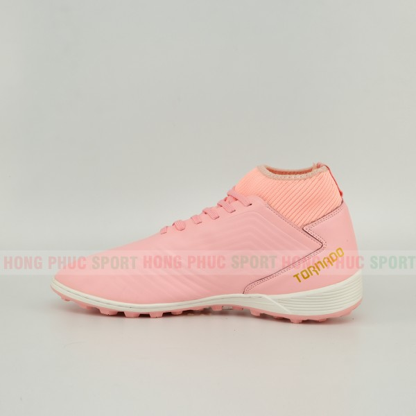 Giày đá bóng cao cổ sân cỏ nhân tạo TASOKI 2019 màu hồng